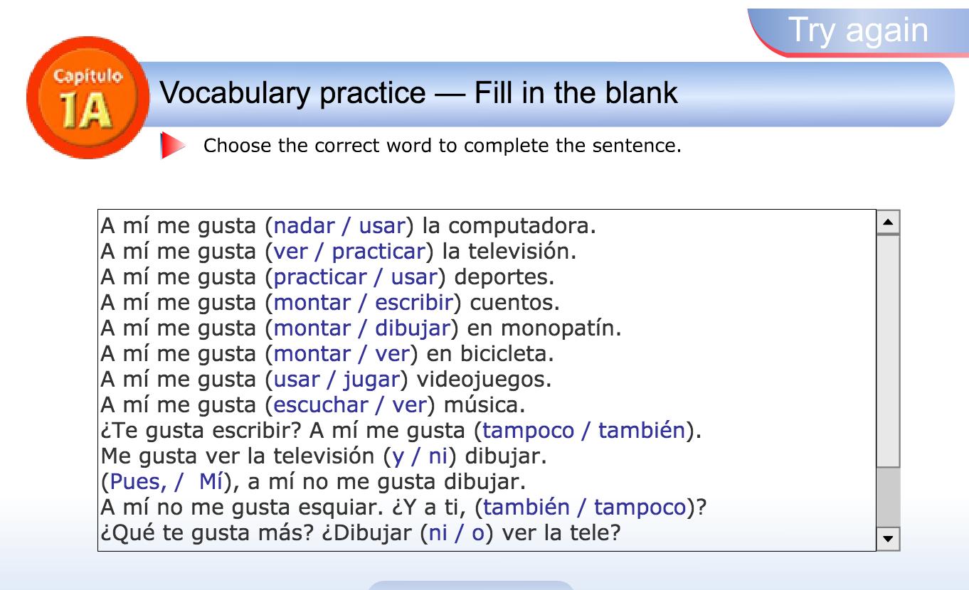 Workbooks realidades 2 capitulo 3a practice workbook answers : Spanish 1 | Miss Estangüi's Blog - SPANISH CLASSES